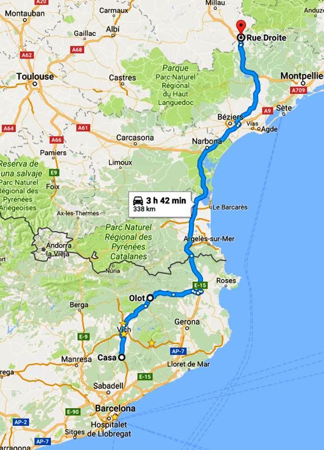 Mapa Centelles - La Couvertoirade